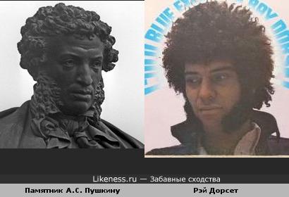 Памятник А.С. Пушкину и лидер гр. Mungo Jerry Рэй Дорсет