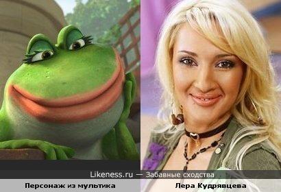 """Лера Кудрявцева и персонаж м/ф """"Гномео и Джульетта"""""""
