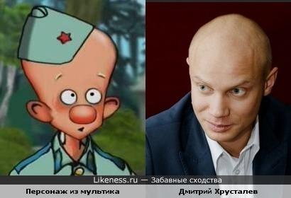 """Персонаж из м/ф """"Десантник Стёпочкин"""" и Дмитрий Хрусталев"""
