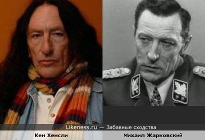 Актёр Михаил Жарковский и музыкант Кен Хенсли (Uriah Heep)