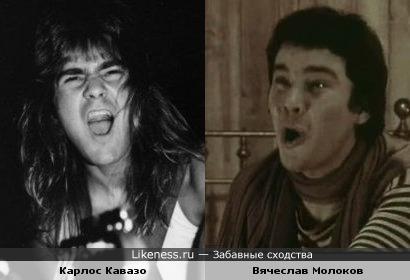 Актёр Вячеслав Молоков и гитарист Quiet Riot Карлос Кавазо