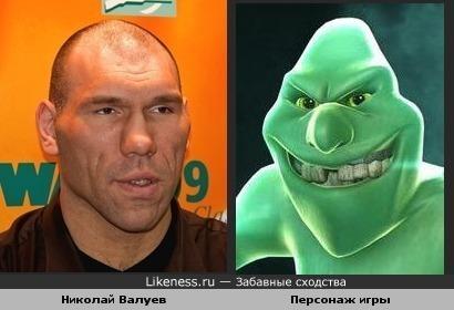 Боксёр николай валуев и персонаж игры