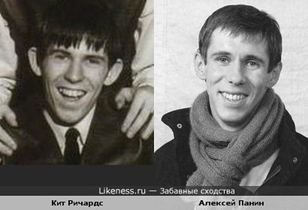 Актёр Алексей Панин и Кит Ричардс в молодости (The Rolling Stones)