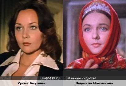 Актрисы Людмила Мызникова и Ирина Акулова