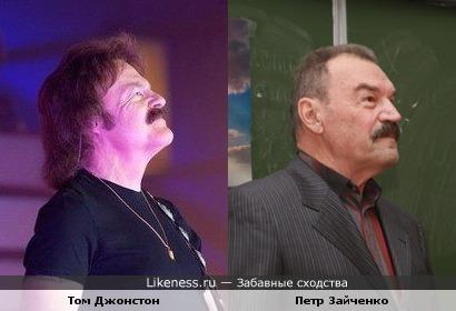 Гитарист Том Джонстон ( The Doobie Brothers ) и актёр Петр Зайченко