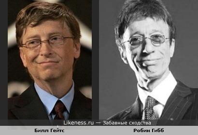 Билл Гейтс и музыкант Робин Гибб