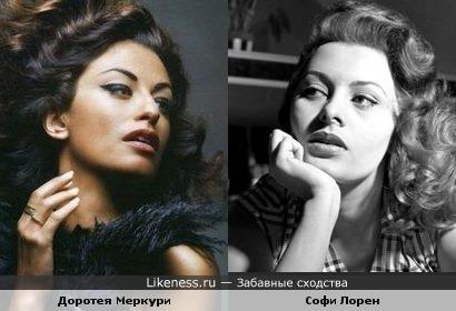 Актрисы Софи Лорен и Доротея Меркури