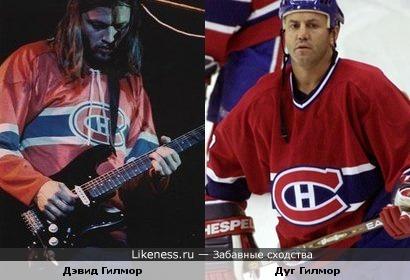 """Мы оба болеем за """"Канадиенс""""... Разница только в именах.... хоккеист Дуг Гилмор и гитарист Дэвид Гилмор"""