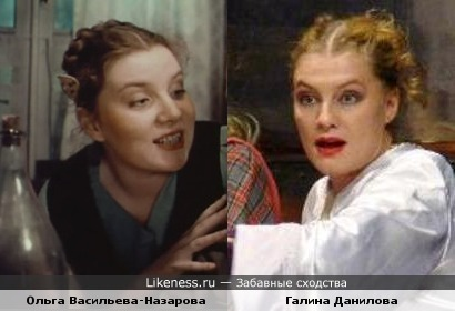 Актрисы Галина Данилова и Ольга Васильева-Назарова