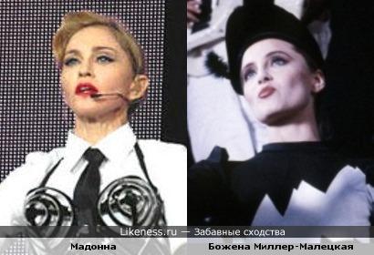 Мадонна и актриса Божена Миллер-Малецкая