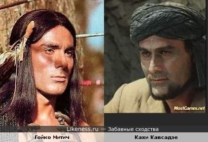 Абдулла- вождь семинолов... (Гойко Митич и Кахи Кавсадзе)