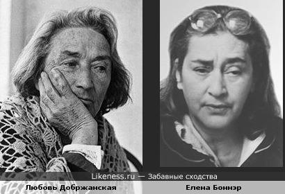 Актриса Любовь Добржанская и правозащитница Елена Боннэр