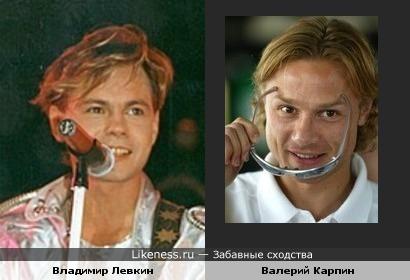 Певец Владимир Левкин и футболист Валерий Карпин