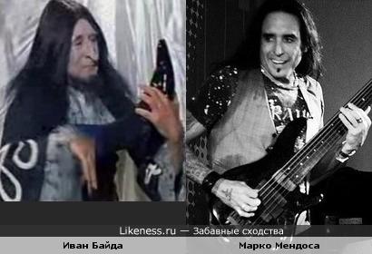 "Бас-гитарист Марко Мендоса ( экс Whitesnake) и Иван Байда ( к/ф""Варвара-краса..."")"