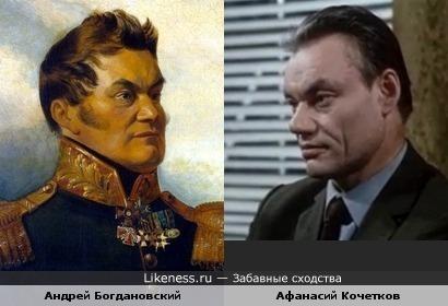 Актёр Афанасий Кочетков и портрет А. В.Богдановского