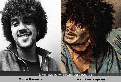 Эскиз раба с картины А. Иванова «Явление Мессии» и основатель гр. Thin Lizzy Филл Лайнотт