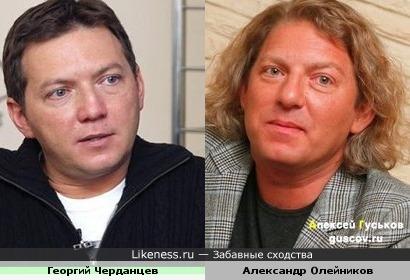 Спортивный комментатор Георгий Черданцев и телеведущий Александр Олейников
