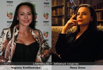 """Певица Марина Хлебникова и актриса Лена Олин в к/ф """"Девятые врата"""""""