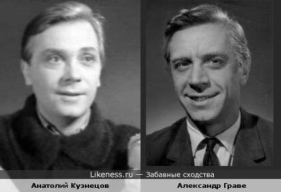 Актёры Александр Граве и Анатолий Кузнецов