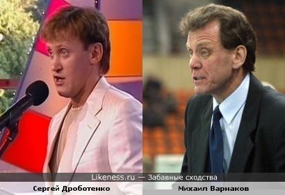 Хоккеист и тренер сборной России Михаил Варнаков и юморист Сергей Дроботенко