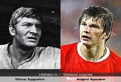 Футболист Андрей Аршавин и актёр Юозас Будрайтис