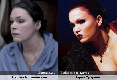 До и после макияжа...Актриса Марина Могилевская и Тарья Турунен