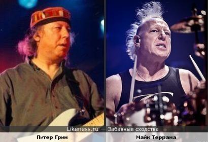 Два маэстро... Гитарист Питер Грин и ударник Майк Террана