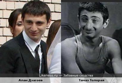 Футболист Алан Дзагоев и актёр Тамаз Толорая
