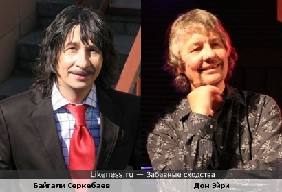 Музыканты Дон Эйри (Deep Purple) и Байгали Серкебаев (Deep Purple)