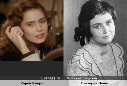 Актрисы Виктория Лепко и Корин Клери