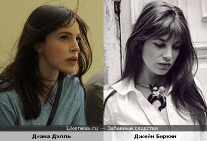 Актрисы Джейн Биркин и Диана Дэлль