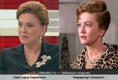 Журналистка Светлана Сорокина и актриса Марджори Беннетт