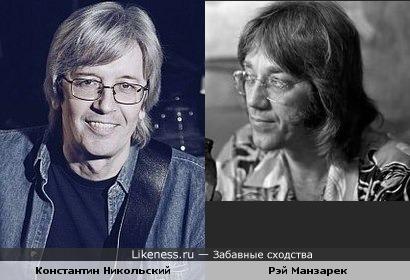 Музыканты Константин Никольский и Рэй Манзарек (The Doors)