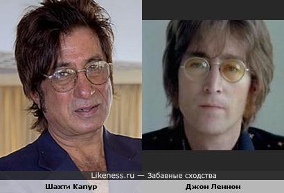 Актёр Шахти Капур и музыкант Джон Леннон