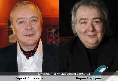 Актёр Сергей Проханов и гитарист Берни Марсден ( ex-Whitesnake)