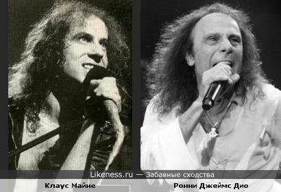 Два вокалиста... Клаус Майне и Ронни Джеймс Дио