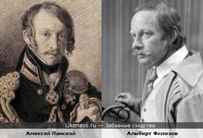 Актёр Альберт Филозов и герой войны 1812 г. Алексей Ланской
