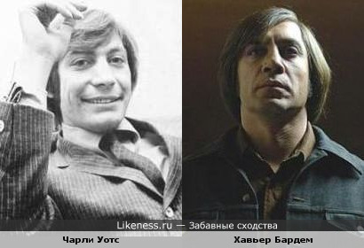 Актёр Хавьер Бардем и ударник «The Rolling Stones» Чарли Уотс
