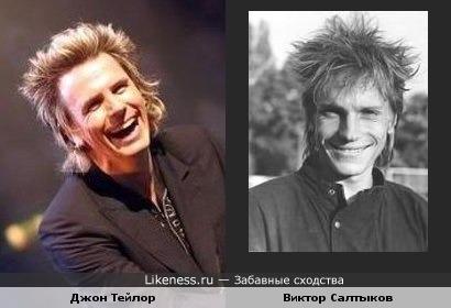 "Гитарист Джон Тейлор гр.""Duran Duran"" и певец Виктор Салтыков"