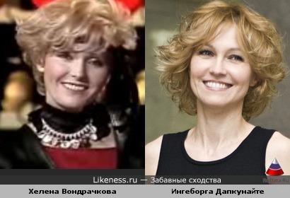 Актриса Ингеборга Дапкунайте и певица Хелена Вондрачкова