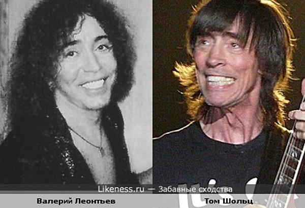 """Гитарист Том Шольц (гр.""""Boston"""") и певец Валерий Леонтьев"""