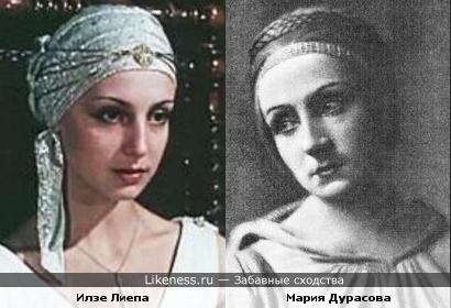 Актриса Мария Дурасова и балерина Илзе Лиепа