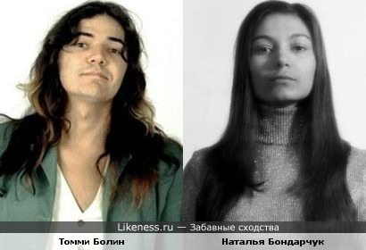 Актриса Наталья Бондарчук и гитарист Томми Болин (Deep Purple)