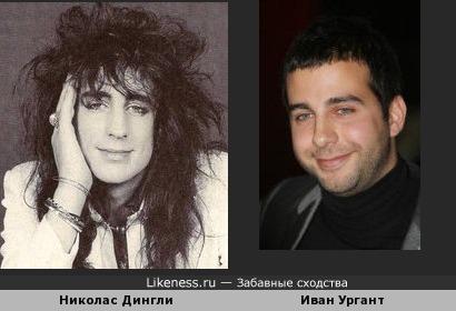 Ударник Николас Дингли (Hanoi Rocks) и Иван Ургант