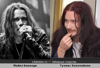 Вокалист Майлз Кеннеди и клавишник Туомас Холопайнен (Nightwish)