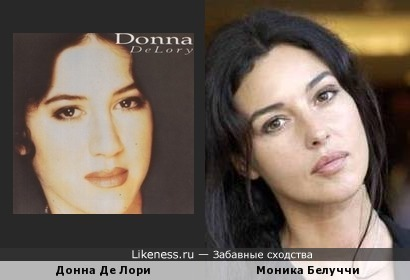 Певица Донна Де Лори и актриса Моника Белуччи
