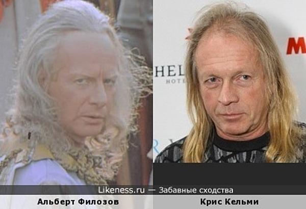 Музыкант Крис Кельми и актёр Альберт Филозов