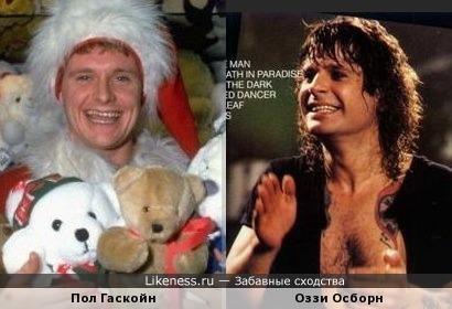 Две легенды.... ( Пол Гаскойн и Оззи Осборн)