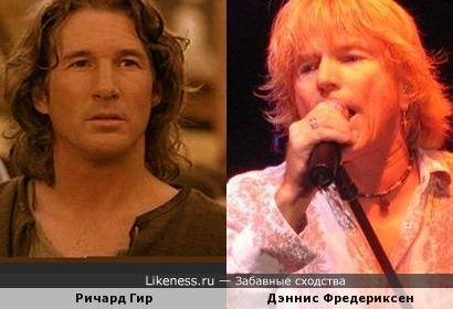 "Актёр Ричард Гир и вокалист Дэннис Фредериксен ( ""Toto"")"