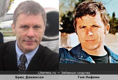 "Актёр Том Лафлин и вокалист ""Iron Maiden"" Брюс Дикинсон"